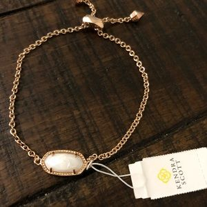 Kendra Scott Elaina Bracelet Rose Gold and Pearl